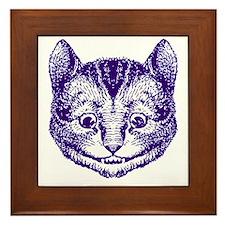 Cheshire Cat Purple Framed Tile