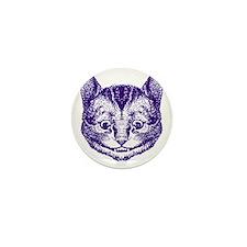 Cheshire Cat Purple Mini Button
