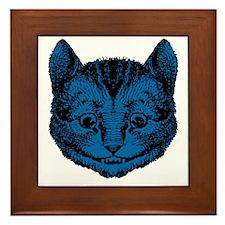 Cheshire Cat Blue Fill Framed Tile