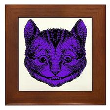 Cheshire Cat Purple Fill Framed Tile