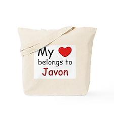My heart belongs to javon Tote Bag