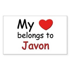My heart belongs to javon Rectangle Decal
