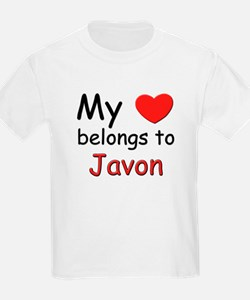 My heart belongs to javon Kids T-Shirt