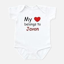 My heart belongs to javon Infant Bodysuit