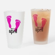 pinkfeet_duein_april Drinking Glass