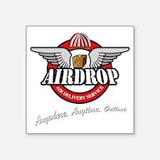 """AirDrop.Para.Dark Square Sticker 3"""" x 3"""""""
