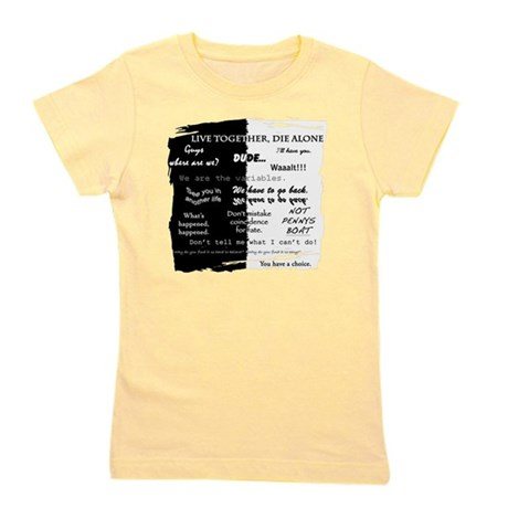 best lines lost text only Girl's Tee