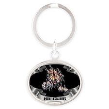 CoffecupDesignUSA Oval Keychain