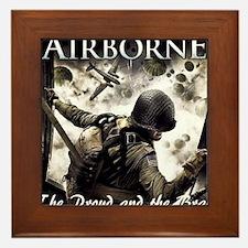 2-Airborne.moh.mousepad Framed Tile