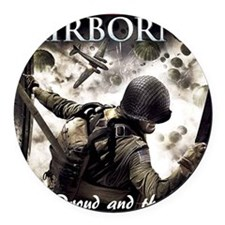 2-Airborne.moh.mousepad Round Car Magnet