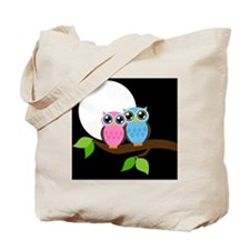 Night Owl Couple Tote Bag