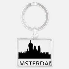 amsterdam_yn Landscape Keychain