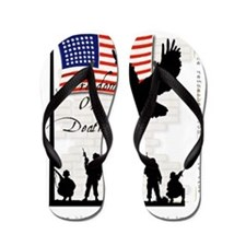 freedom-wht Flip Flops