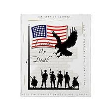 freedom-wht Throw Blanket