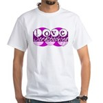 Love Scrapbooking White T-Shirt