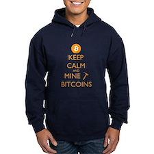 Bitcoin Hoodie - Keep Calm And Mine Bitcoins
