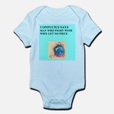 funny confucius chinese proverb joke Infant Bodysu