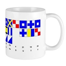 England Expects Signal Black text Small Mug