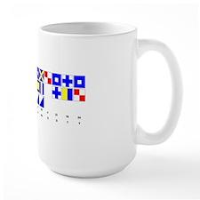 England Expects Signal Black text Mug