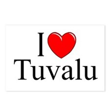 """I Love Tuvalu"" Postcards (Package of 8)"
