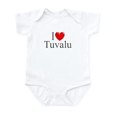 """""""I Love Tuvalu"""" Infant Bodysuit"""