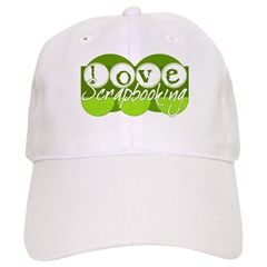 Love Scrapbooking - green Baseball Cap