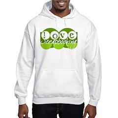 Love Scrapbooking - green Hoodie