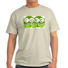 Love Scrapbooking - green Ash Grey T-Shirt