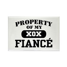 Property of my Fiance Rectangle Magnet