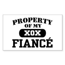 Property of my Fiance Rectangle Decal
