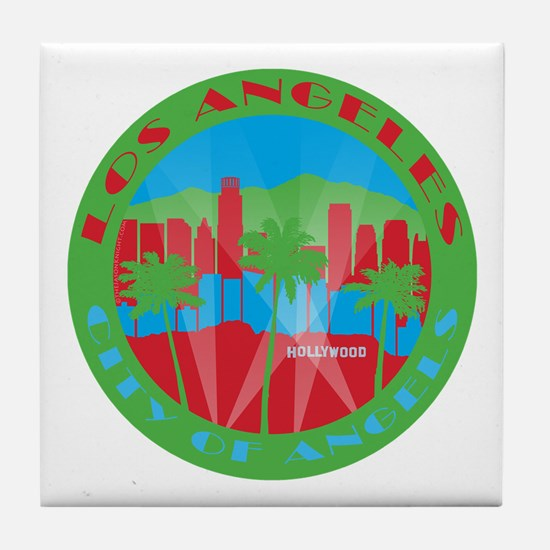 LA City of Angels primary Tile Coaster