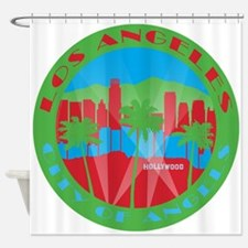 LA City of Angels primary Shower Curtain