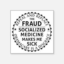 "march_repeal_the_fruad_blac Square Sticker 3"" x 3"""