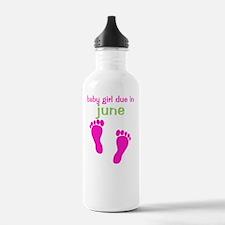 pinkfeet_babygirlduein Water Bottle