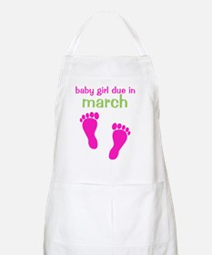 pinkfeet_babygirlduein_march_green Apron