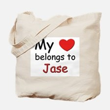 My heart belongs to jase Tote Bag