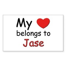My heart belongs to jase Rectangle Decal