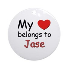 My heart belongs to jase Ornament (Round)