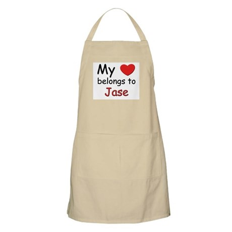 My heart belongs to jase BBQ Apron