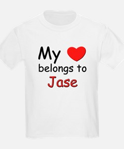 My heart belongs to jase Kids T-Shirt