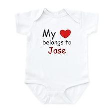 My heart belongs to jase Infant Bodysuit