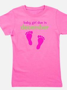 pinkfeet_babygirlduein_december_green Girl's Tee