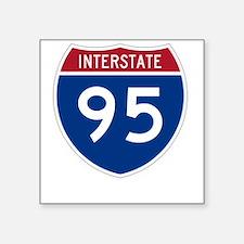 """Highway95Invert Square Sticker 3"""" x 3"""""""