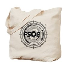 Emblem Black Tote Bag