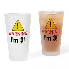 warningim3 Drinking Glass