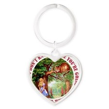 ALICE CAT ANY PATH WILL DO_RED Heart Keychain