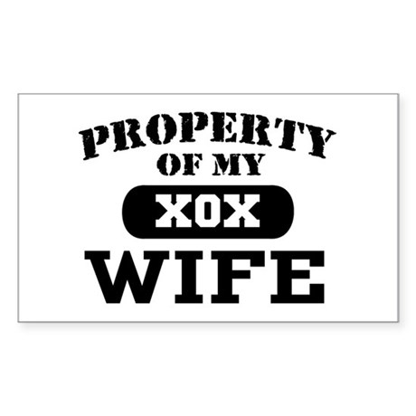 Property of my Wife Rectangle Sticker