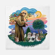 Shih Tzus (four) - St Francis 2R Queen Duvet