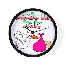 Made In Italy Girl Wall Clock