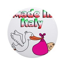 Made In Italy Girl Round Ornament